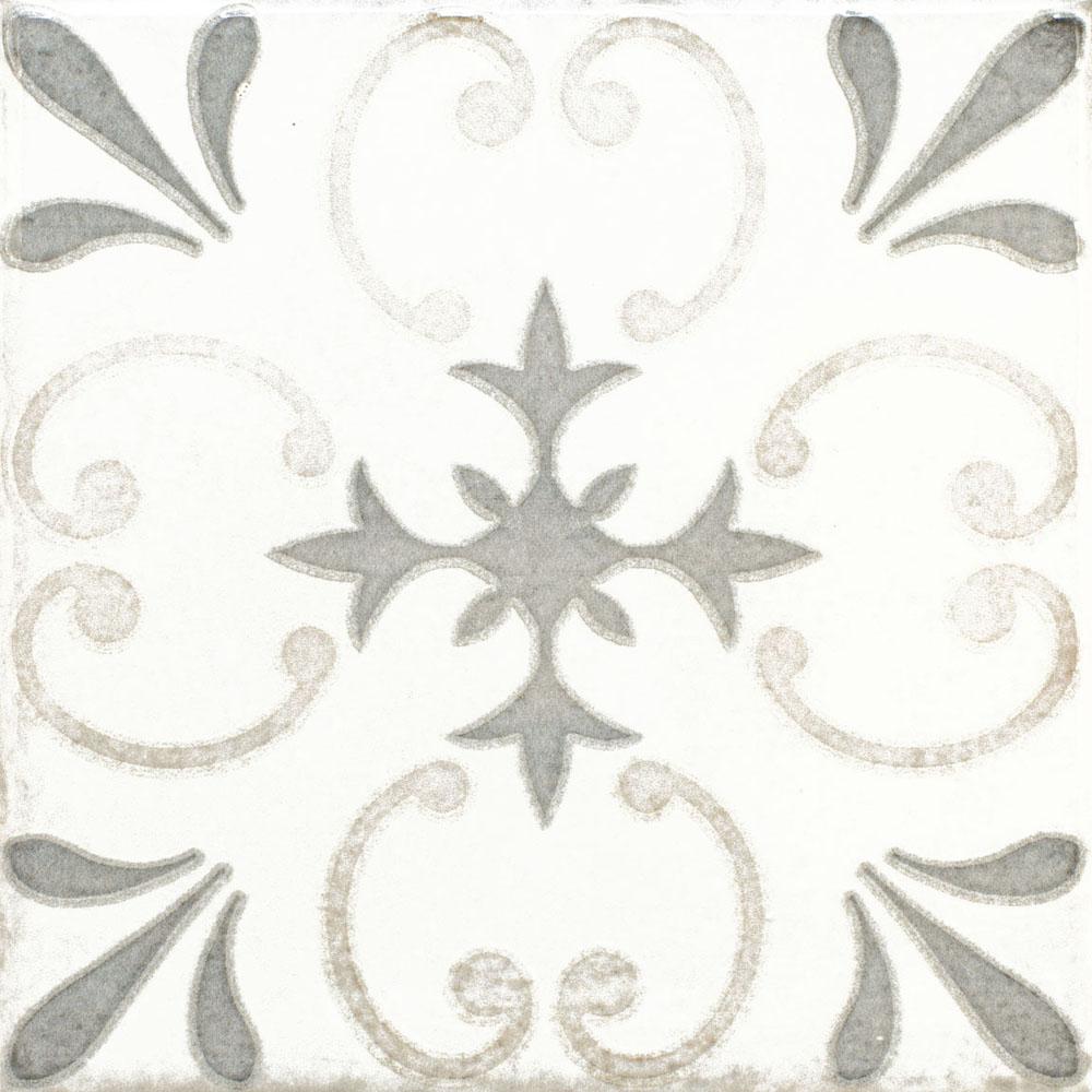 RV OLARIA DECOR WHITE 15.4X15.4